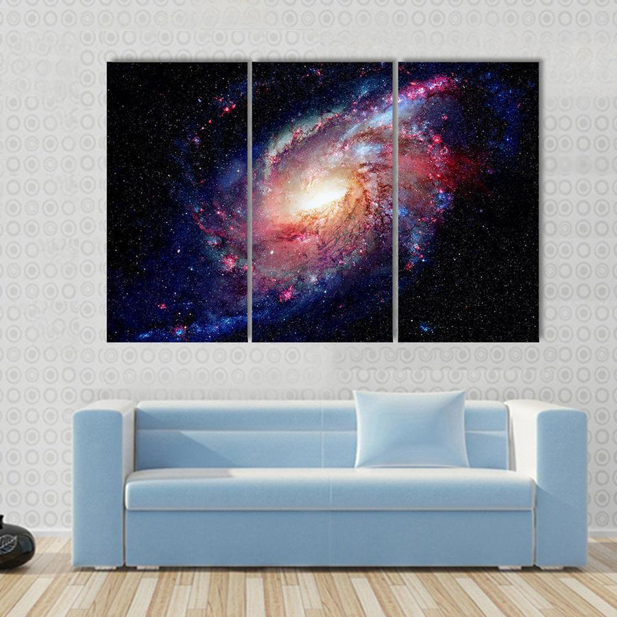 Young Galaxy In Deep Space Multi Panel Canvas Wall Art 3 Pieces / Small / Canvas Tiaracle