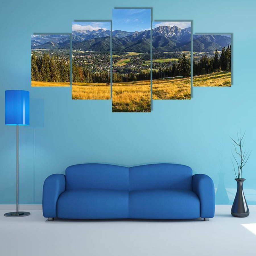 Fabulous Tatra Mountains And Zakopane In Summer Multi Panel Canvas Wall Art 4 Pieces / Medium / Canvas Tiaracle