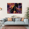 Zodiac Symbol Of Capricorn Multi Panel Canvas Wall Art 4 Horizontal / Small / Gallery Wrap Tiaracle