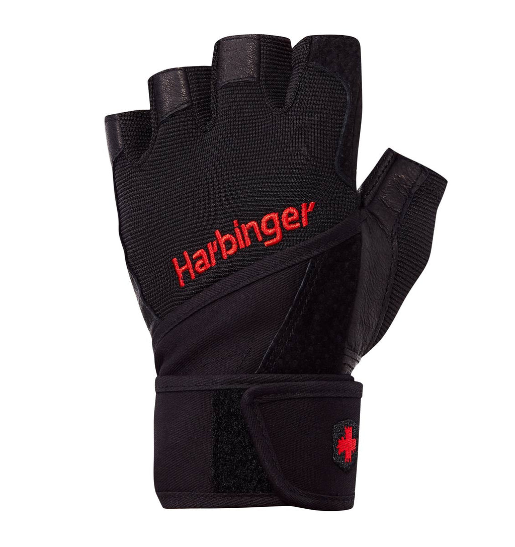 0140 Harbinger Pro Wristwrap Gym Gloves Left Top