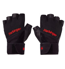 0140 Harbinger Pro Wristwrap Gym Gloves Pair Top