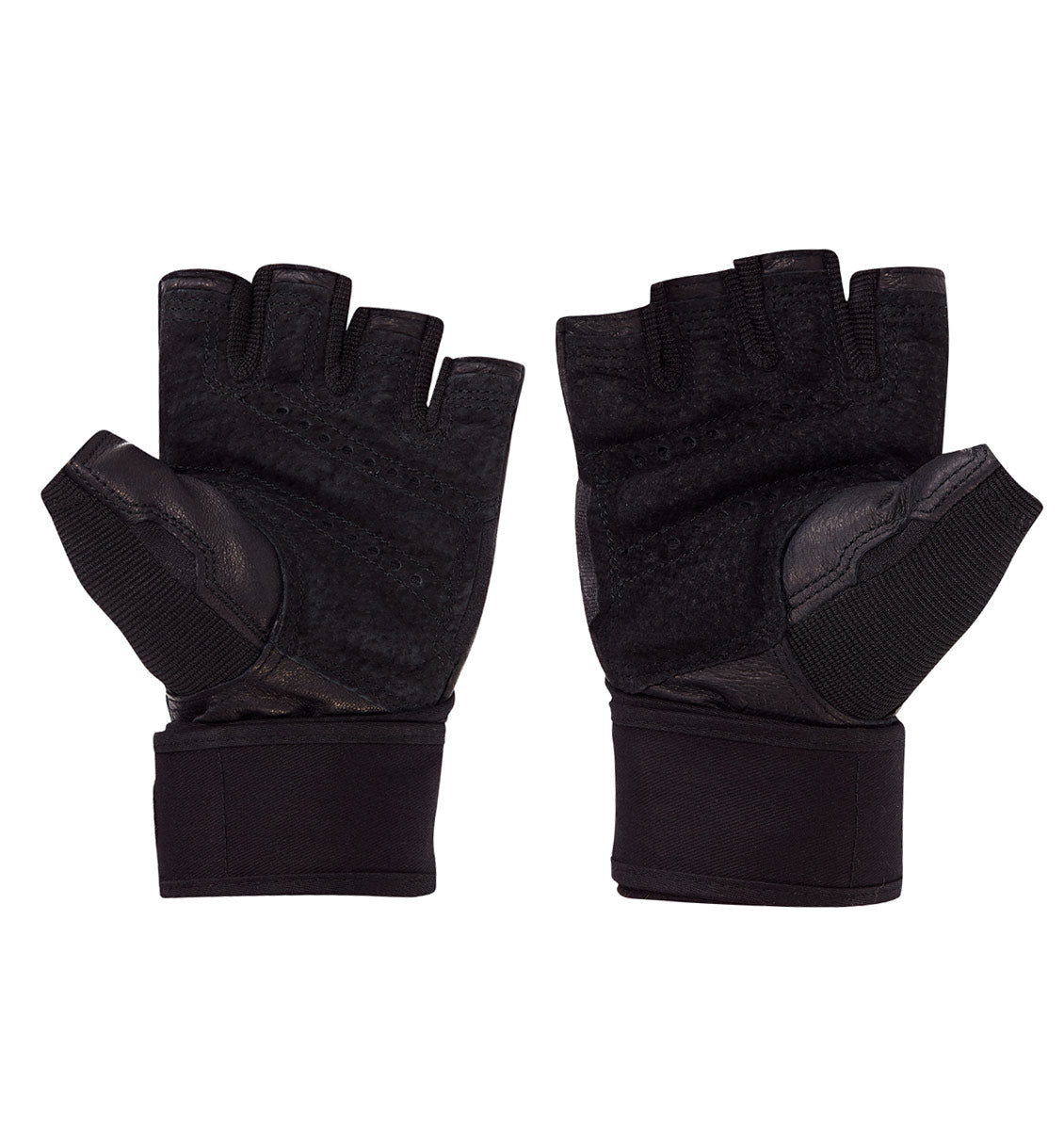 0140 Harbinger Pro Wristwrap Gym Gloves Pair Palm