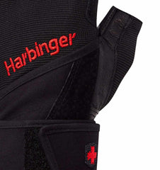 0140 Harbinger Pro Wristwrap Gym Gloves Top Close Up
