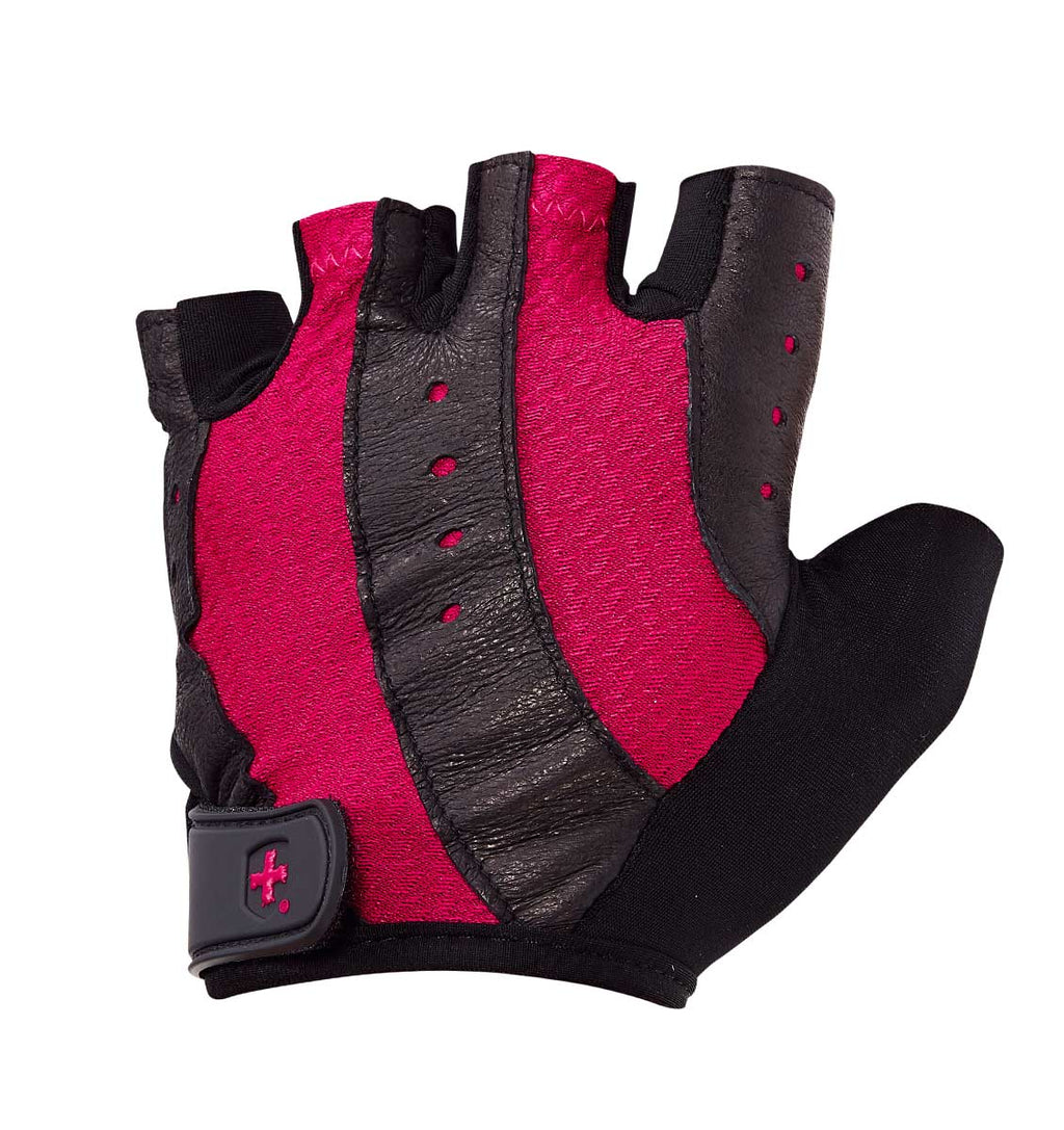 0149 Harbinger Pro Womens Gym Gloves Pink Left Top