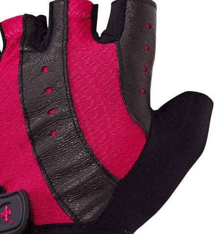 0149 Harbinger Pro Womens Gym Gloves Pink Top Close Up