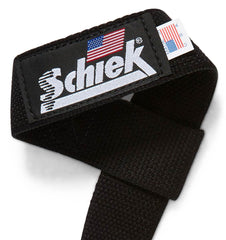 1000BLS Schiek Basic Lifting Straps Logo Close Up