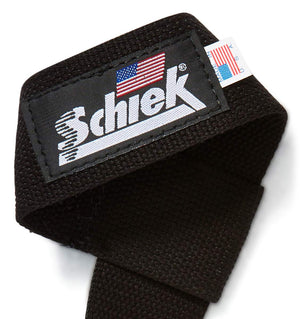 1000BLS2 Schiek Basic Lifting Straps 2 inch Logo Close Up