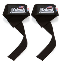 1000BPS Schiek Basic Padded Lifting Straps Front Pair