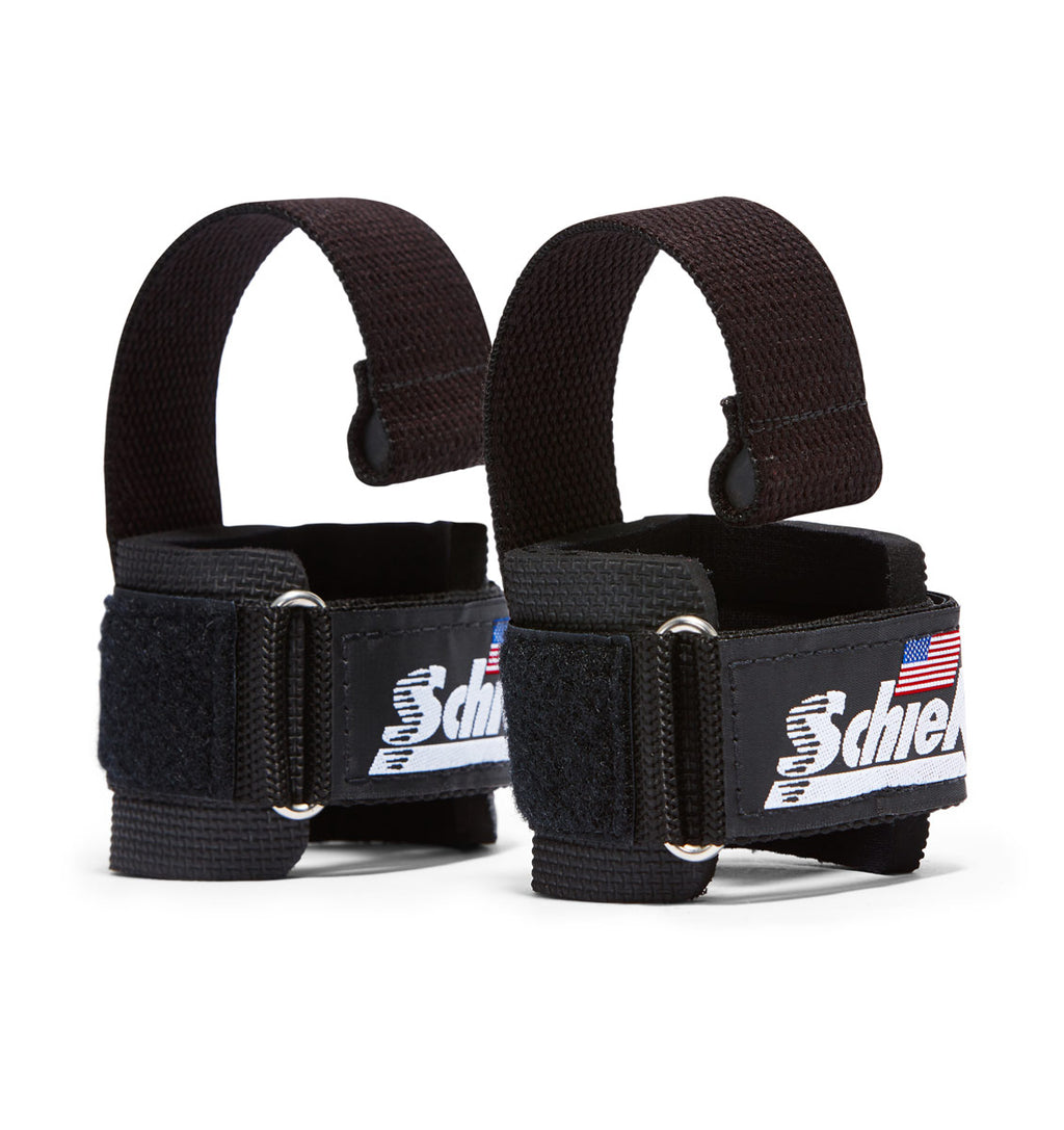 1000DLS Schiek Dowel Lifting Straps Black Pair
