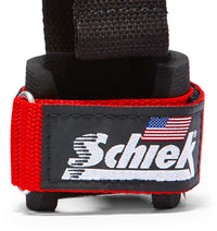 1000DLS Schiek Dowel Lifting Straps Red Wrist Support Close Up