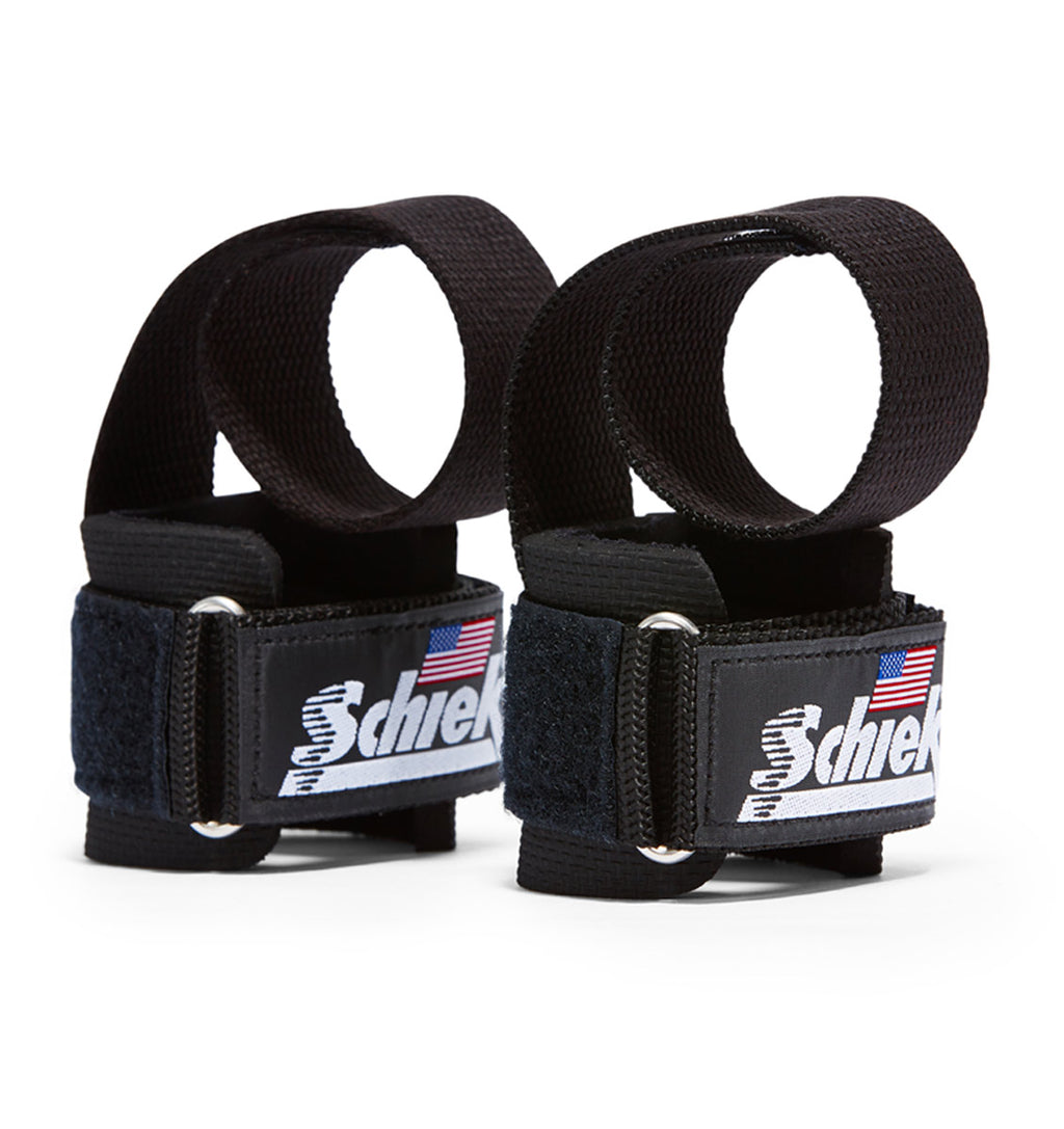 1000PLS Schiek Power Lifting Straps Black Pair