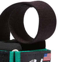 1000PLS Schiek Power Lifting Straps Green Strap Close Up