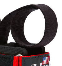 1000PLS Schiek Power Lifting Straps Red Strap Close Up