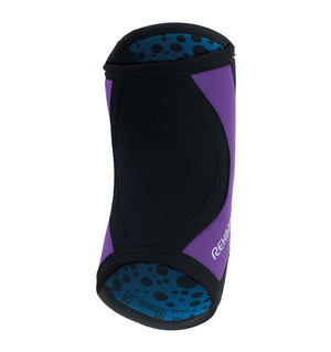 102330-01 - Rehband Rx Elbow Sleeve Black/Purple - 5mm/3mm - Back