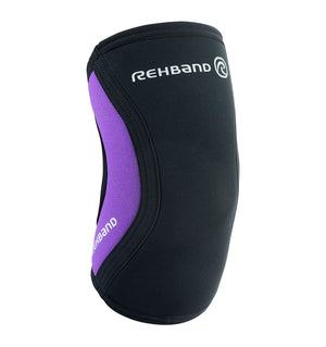 102330-01 - Rehband Rx Elbow Sleeve Black/Purple - 5mm/3mm - Front