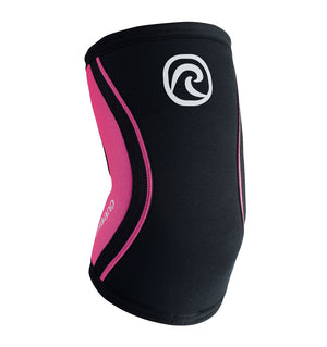 102333-020 - Rehband Rx Elbow Sleeve Black/Pink - 5mm/3mm - Front