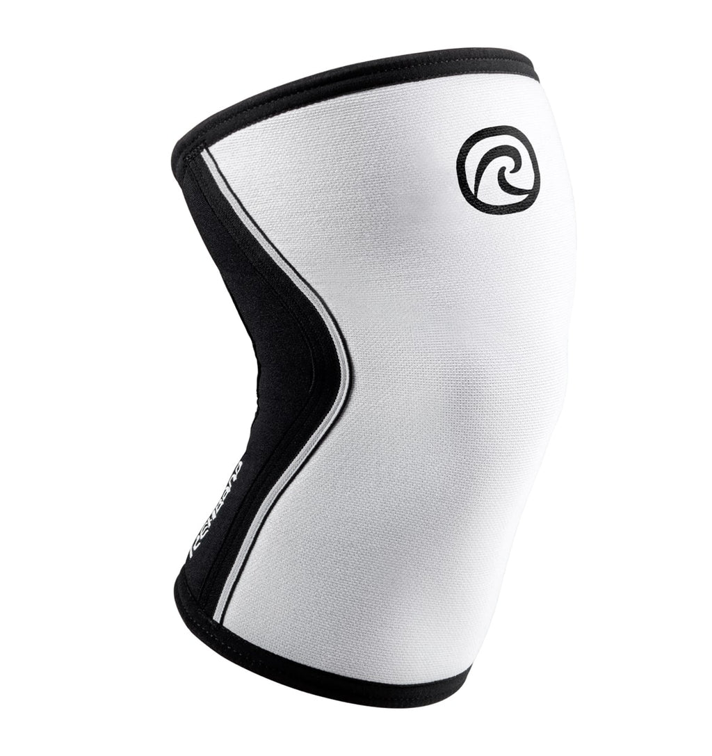 105301-01 - Rehband Rx Knee Sleeve - White/Black - 5mm - Front