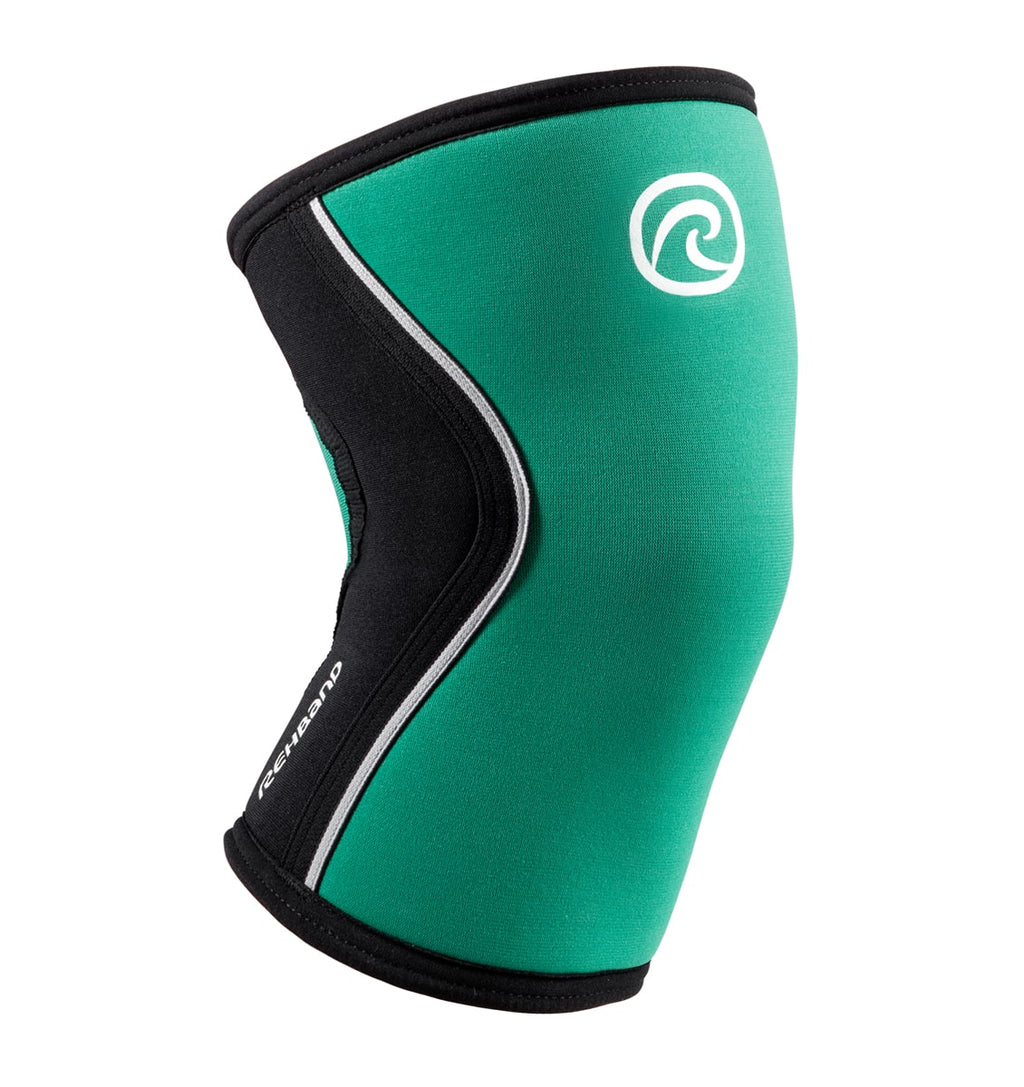 105307-01 - Rehband Rx Knee Sleeve - Green/Black - 5mm - Front