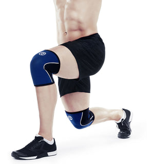 105308 - Rehband Rx Knee Sleeve - Navy/Black - 5mm - Lifestyle Shot