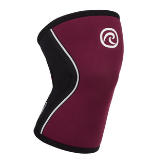 105314 - Rehband Rx Knee Sleeve - Burgundy/Black - 5mm - Front