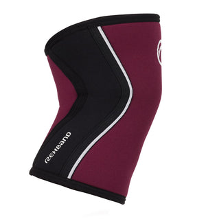 105314 - Rehband Rx Knee Sleeve - Burgundy/Black - 5mm - Side