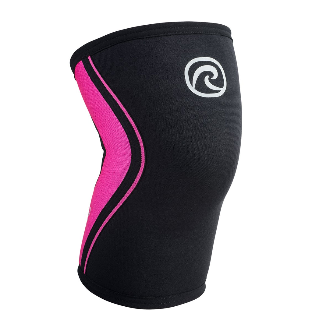 105333 - Rehband Rx Knee Sleeve - Black/Pink - 5mm - Front