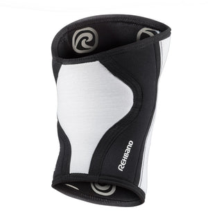 105401-01 - Rehband Rx Knee Sleeve - White/Black - 7mm - Back