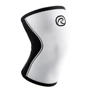 105401-01 - Rehband Rx Knee Sleeve - White/Black - 7mm - Front