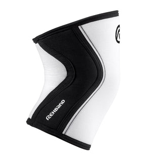 105401-01 - Rehband Rx Knee Sleeve - White/Black - 7mm - Side