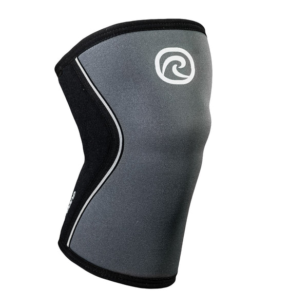 105409-01 Rehband Rx Knee Sleeve Steel Grey Black 7mm - Front