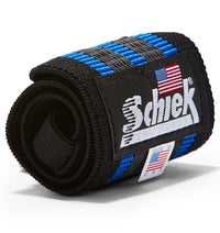 1118R Schiek Wrist Wraps Straps Blue 18 inch Single Close Up