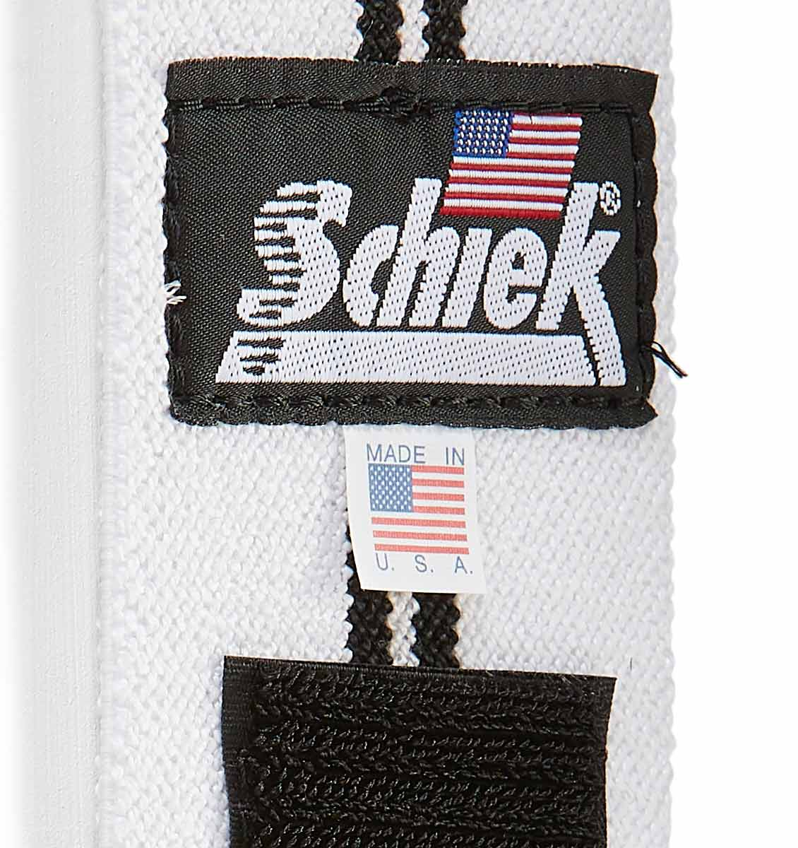 1124W Schiek Wrist Wraps Straps White 24 inch Material Close Up