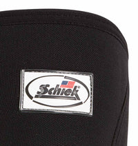 1170CF Mens Knee Sleeves Schiek Mens Rx Cross Training Knee Sleeves Black Front Close Up