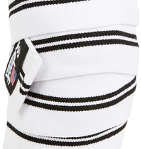 1178KWW Schiek Knee Wraps White Front Close Up