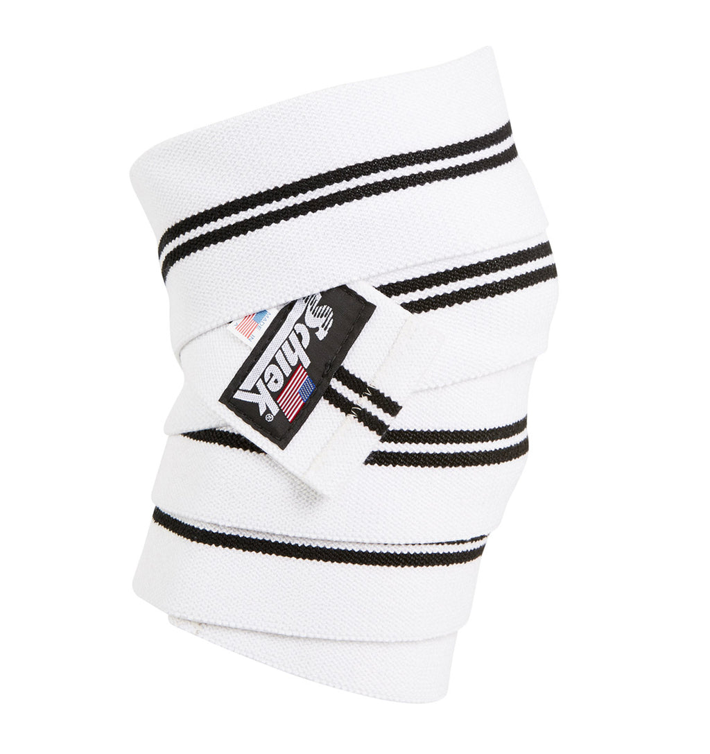 1178KWW Schiek Knee Wraps White Side
