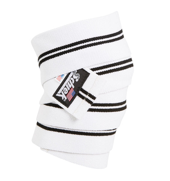 1178KWW-V Schiek Knee Wraps White With Velcro Closure Side