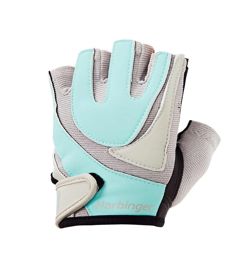 1265 Harbinger Womens Training Grip Gloves Left Top