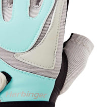 1265 Harbinger Womens Training Grip Gloves Top Close Up