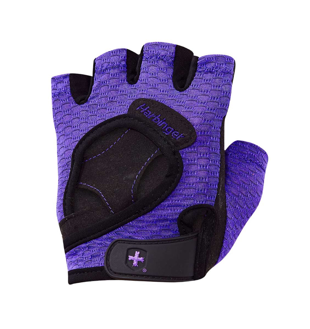 139 Harbinger Womens FlexFit Wash&Dry AntiMicrobial Glove Purple Left Top
