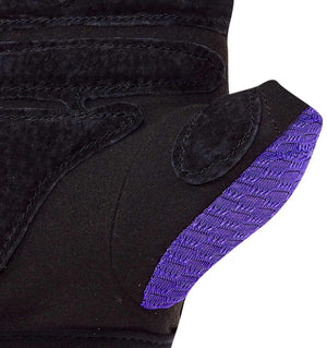 139 Harbinger Womens FlexFit Wash&Dry AntiMicrobial Glove Purple Palm Close Up