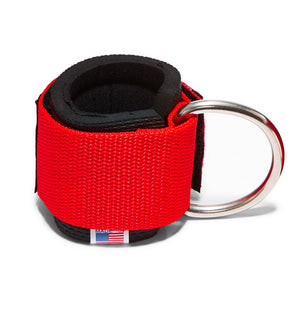 1700 Schiek Ankle Straps Cuffs Red Back Hook Out