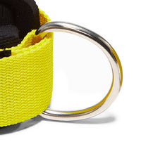 1700 Schiek Ankle Straps Cuffs Yellow Hook Close Up