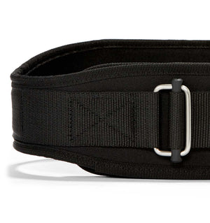 2004 Schiek Contour Weight Lifting Belt Black Front Close Up