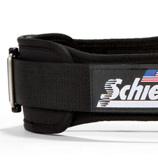 2004 Schiek Contour Weight Lifting Belt Black Side Close Up