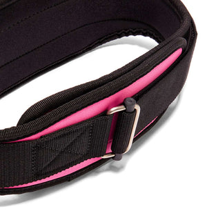 2004 Schiek Contour Weight Lifting Belt Pink Buckle
