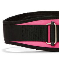 2004 Schiek Contour Weight Lifting Belt Pink Front Close Up