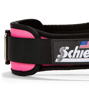 2004 Schiek Contour Weight Lifting Belt Pink Side Close Up
