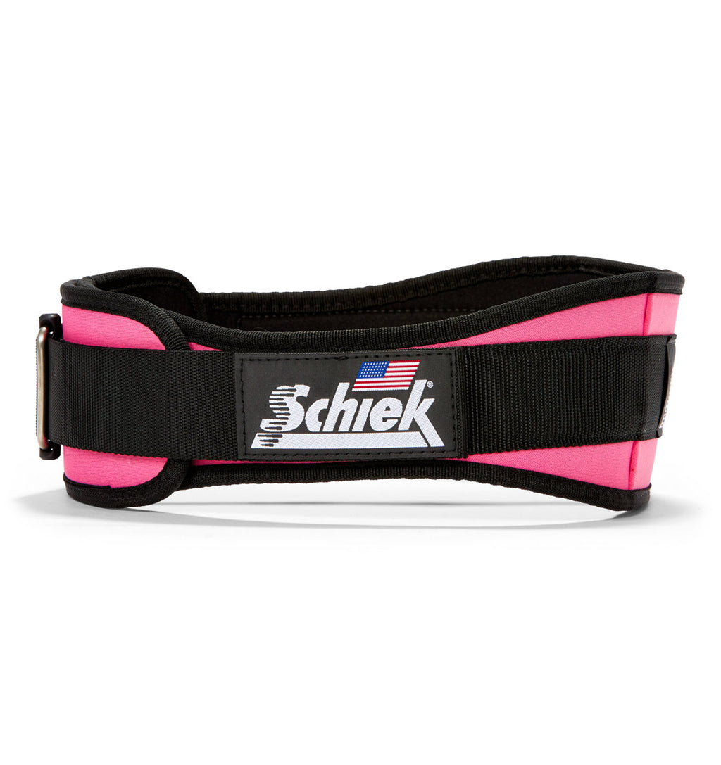 2004 Schiek Contour Weight Lifting Belt Pink Side