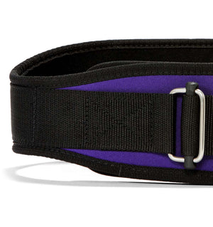 2004 Schiek Contour Weight Lifting Belt Purple Front Close Up