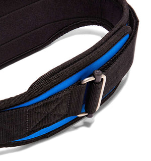 2004 Schiek Contour Weight Lifting Belt Royal Blue Buckle